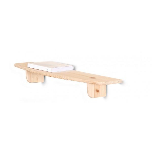 Półka drewniana ścienna 75 cm