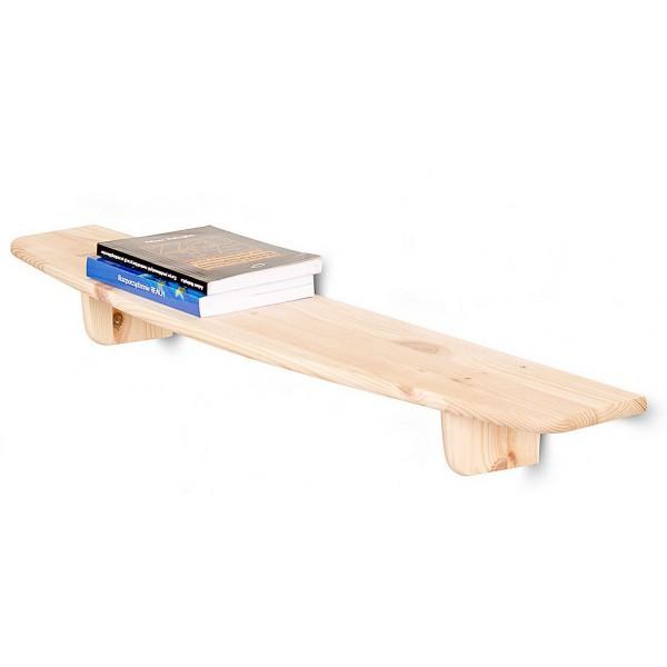 Półka drewniana ścienna 90 cm