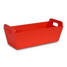 Doniczka drewniana 35x14,5x13 cm Pure red
