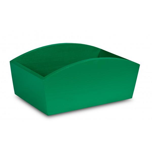 Doniczka drewniana 28x16x12 cm Zielona