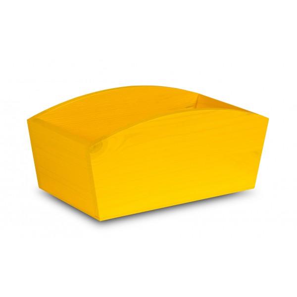 Doniczka drewniana 28x16x12 cm Żółta