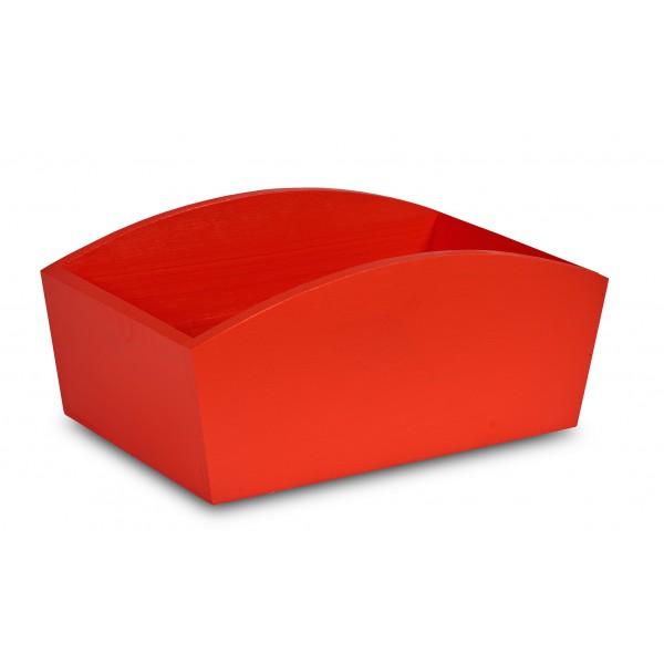 Doniczka drewniana 28x16x12 cm Czerwona