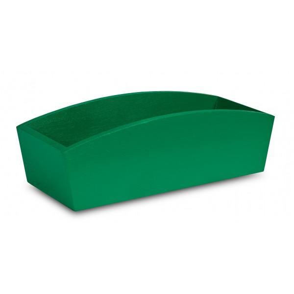 Doniczka drewniana 34x13x10 cm Zielona
