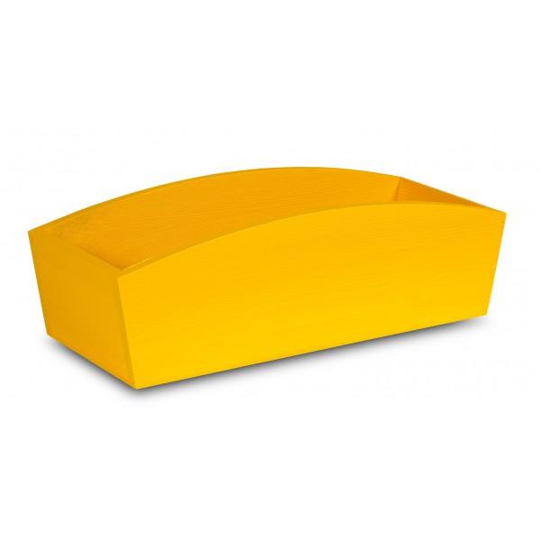 Doniczka drewniana 34x13x10 cm Żółta