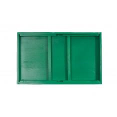 Taca z nogami drewniana 51x32x24 cm Mint green