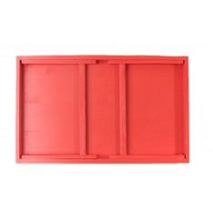 Taca z nogami drewniana 51x32x24 cm Pure red