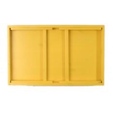Taca z nogami drewniana 51x32x24 cm Signal yellow