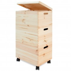 Trio standard drewniane 39x30x74 cm Natural wood