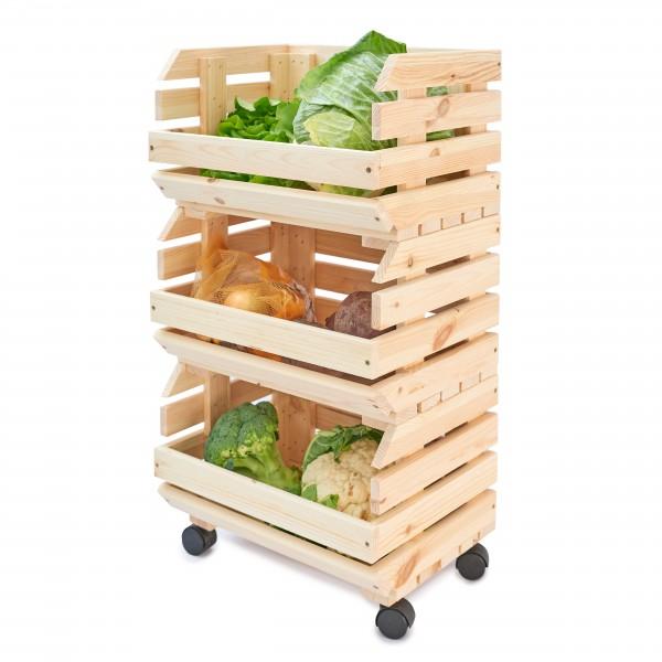 Warzywniak drewniany  39x30x75 cm