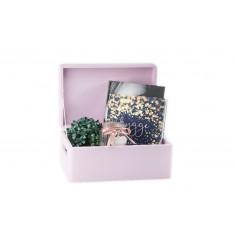 Drewniana skrzynka dekoracyjna 30x20x13,5 cm Różowa