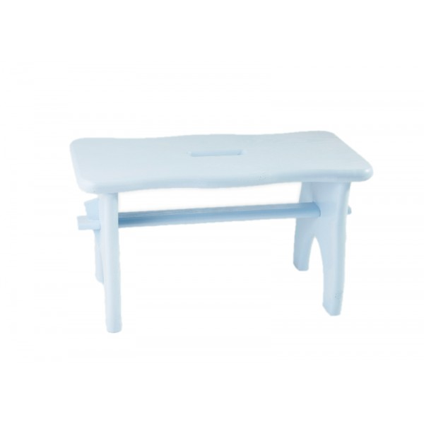 Stołek drewniany 38x18x21 cm Niebieski