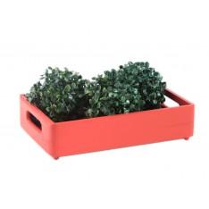 Skrzynka drewniana 30x20x7 cm Czerwona