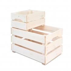 Skrzynka drewniana duża 46x31x25 cm Signal white