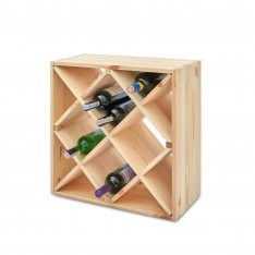 Regał drewniany na wino plaster miodu 52x25x52 cm