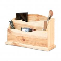 Przybornik drewniany 27x8x16,5 cm
