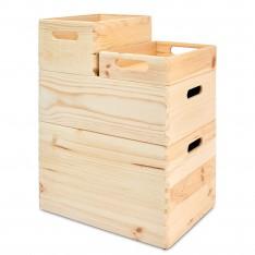 Skrzynka drewniana 40x30x7 cm