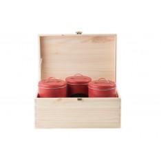 Kuferek drewniany 23x13x12 cm