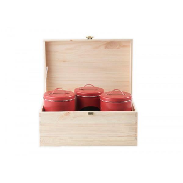 Kuferek drewniany 23x13x12 cm Natural wood