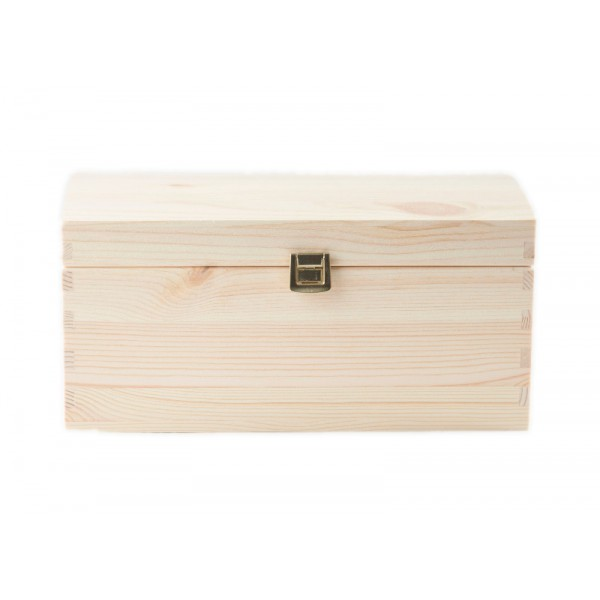Kuferek drewniany 26x16x13,5 cm
