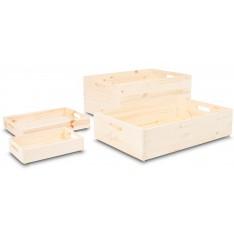 Skrzynka drewniana 60x40x13,5 cm