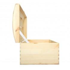 Kuferek drewniany 35x25x18,5 cm z nacięciem na koperty