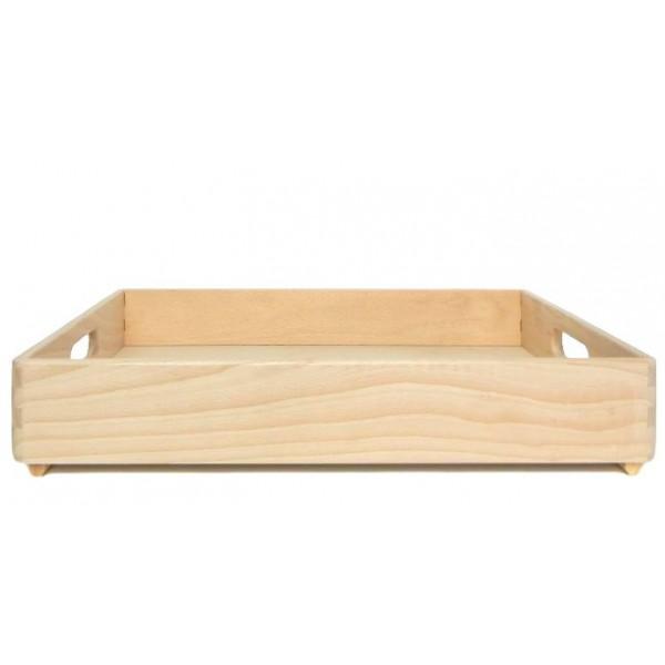 Skrzynka bukowa drewniana 40x30x6 cm