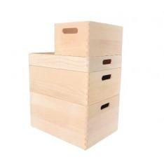 Skrzynka bukowa 40x30x13,5 cm Natural wood