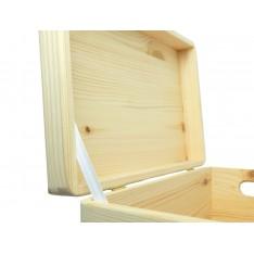 Trio z wybraniami drewniane 39x30x74 cm Natural wood