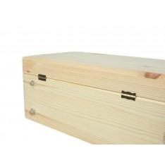 Skrzynka drewniana z deklem 37x28x18cm Natural wood
