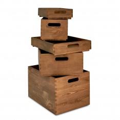 Skrzynka drewniana 40x30x23cm Jasny brąz