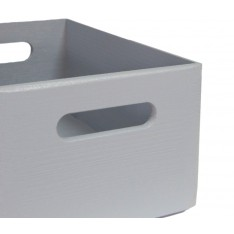 Skrzynka drewniana 40x30x23cm Silver grey