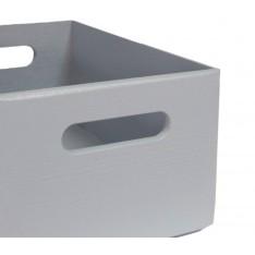 Skrzynka drewniana 40x30x13,5 cm Silver grey