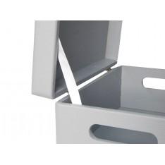 Skrzynka drewniana z deklem 40x30x23cm Silver grey