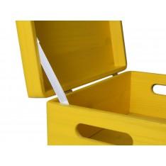 Skrzynka drewniana z deklem 40x30x13,5cm Signal yellow