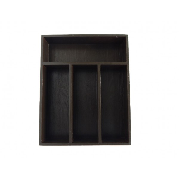 Skrzynka na sztućce drewniana 25x31x7 cm Brązowa