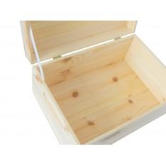 Skrzynka drewniana z deklem 25x16x11,5 cm Natural wood