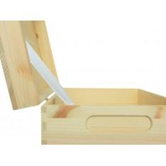 Skrzynka drewniana z deklem 29x21x14 cm Natural wood