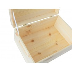 Skrzynka drewniana z deklem 33x25x15,5 cm Natural wood