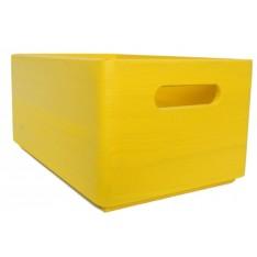 Skrzynka drewniana 30x20x13,5cm Signal yellow