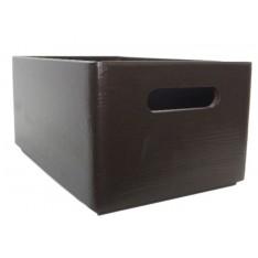 Skrzynka drewniana 30x20x13,5cm Sepia brown