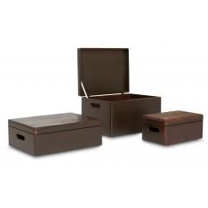 Skrzynka drewniana z deklem 30x20x13,5 cm Sepia brown